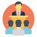lecture, presentation, seminar, teaching, training, workshop icon