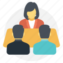 business meeting, conversation, discussion, meetup, personal meeting icon