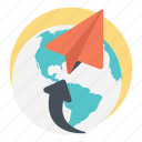 around the globe, fast connection, send request, social media, super fast connectivity icon
