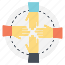 collaboration, connection, organization, teamwork, togetherness icon