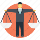 balance scale, ethics and values, justice, law and regulation, measurement icon