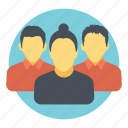 business persons, colleagues, employees, people, social group icon