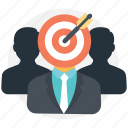 audience engagement, business target, goal achievement, targeted group icon