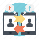 facebook message, online communication, social chat, tweets, user conversations icon