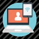 digital connection, internet hotspot, online interaction concept, social connectivity, social platform icon