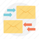 content delivery, email service, internet communication, online correspondence, outgoing mail icon