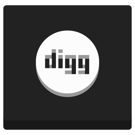 digg, media, network, news, online, web icon