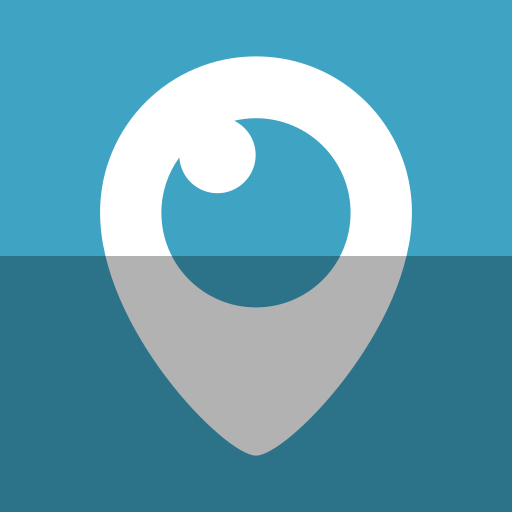 eye, logo, periscope, social network, tv, video, watch icon
