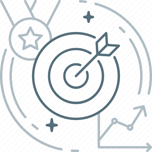 aim, bullseye, dartboard, effectiveness, hit the target, target, win icon