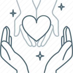 care, hand, hands, heart, love, save icon