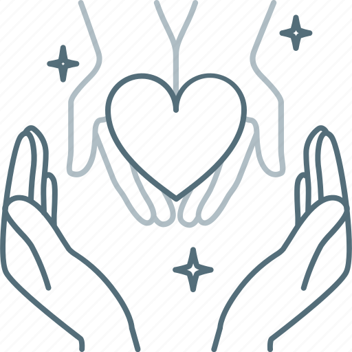 Heart, love, hand, hands, save, care icon - Download