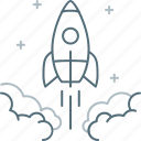 fast, launch, rocket, spaceship, starting, startup icon
