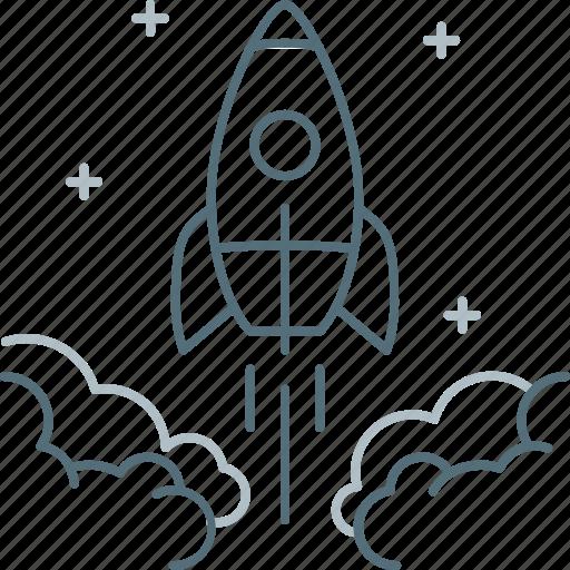 Fast, launch, rocket, spaceship, starting, startup icon - Download on Iconfinder