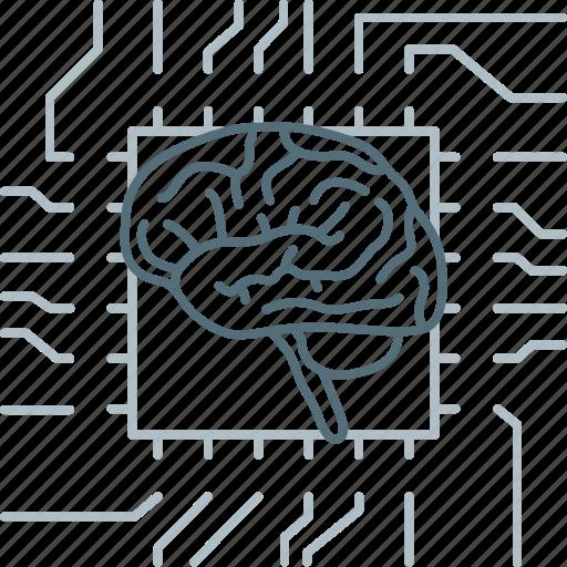 Brain, brainstorm, brainstorming, chip, mind, neurology, think icon - Download on Iconfinder