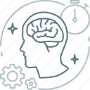 brain, brainstorming, creative, idea, mind, proactive, think icon