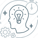 brainstorming, bulb, creative, idea, mind, proactive, think icon