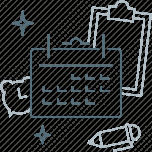 Agenda, calendar, date, event, month, plan, schedule icon - Download on Iconfinder