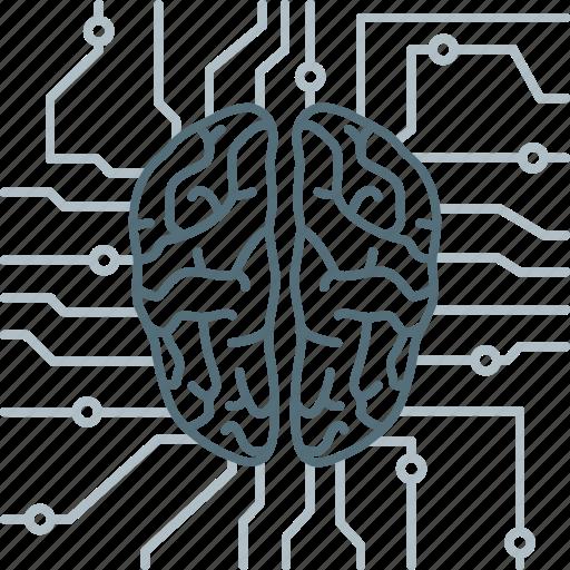 brain, brainstorm, brainstorming, chip, mind, neurology, think icon