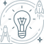 brainstorm, brainstorming, bulb, creative, idea, proactive, think icon
