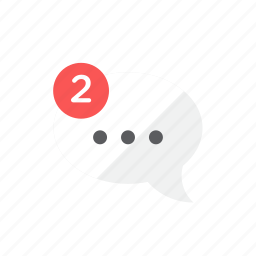chat, notification icon