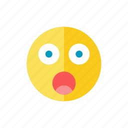 frightened, smiley icon