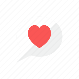 bubble, heart icon