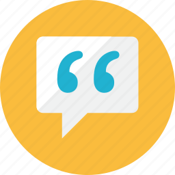 chat, quote icon