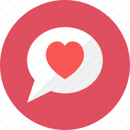 bubble, heart icon