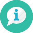 bubble, information icon