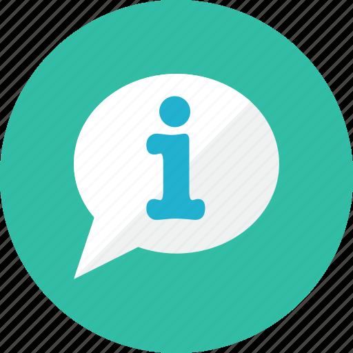 bubble, information icon