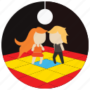 ball, dance, dancing, floor, interactions, lights, social icon