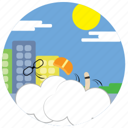 cloud, fight, glasses, hat, interactions, social, sun icon