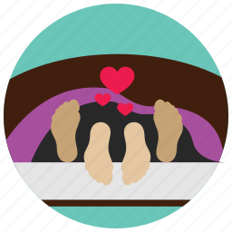 bed, blankets, feet, hearts, interactions, sex, social icon