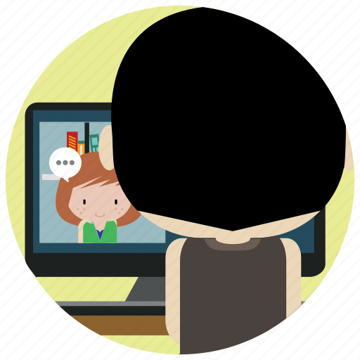 chat, interactions, internet, online, social, webcam icon