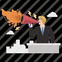 marketing, hate, speech, talk, megaphone, man, hatred icon