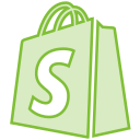 bag, line, shopify, social, transparent icon
