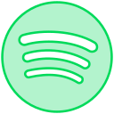 audio, line, music, social, songs, spotify, transparent icon