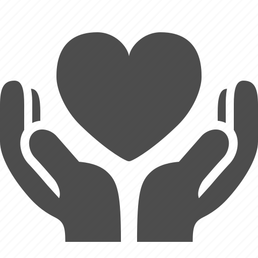 give, hand, hands, heart, in love, love, share icon