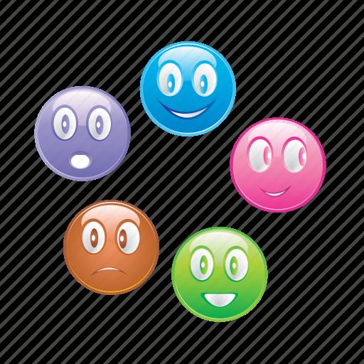 Smileys, emoticon, smiley, emoji, face icon