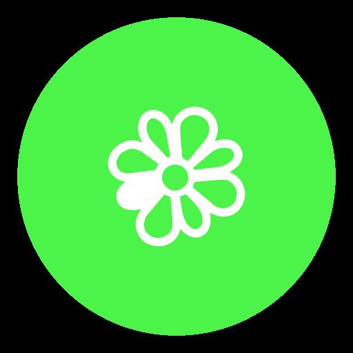 icq, messenger, social icon