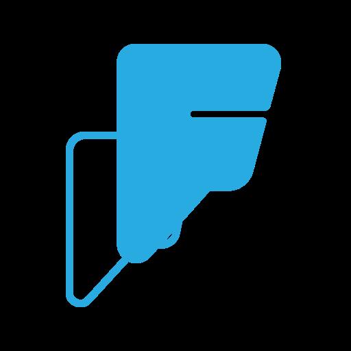 foursquare, logo, media, social icon