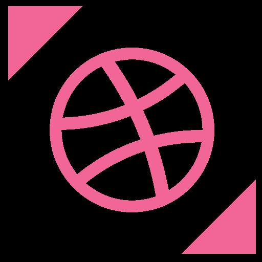 artist, dribbble, like, profile, share icon