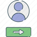 communication, enter, internet, login, media, network, social icon