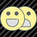 communication, emoticon, face, interface, media, network, social icon