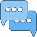 chat, chatting, communication, media, network, social, web icon