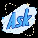 ask, media, social icon