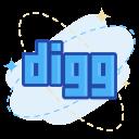 digg, media, social icon