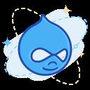 drupal, media, social icon