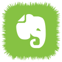 evernote, media, social icon