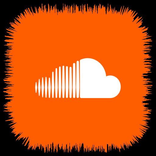 cloud, media, social, sound icon